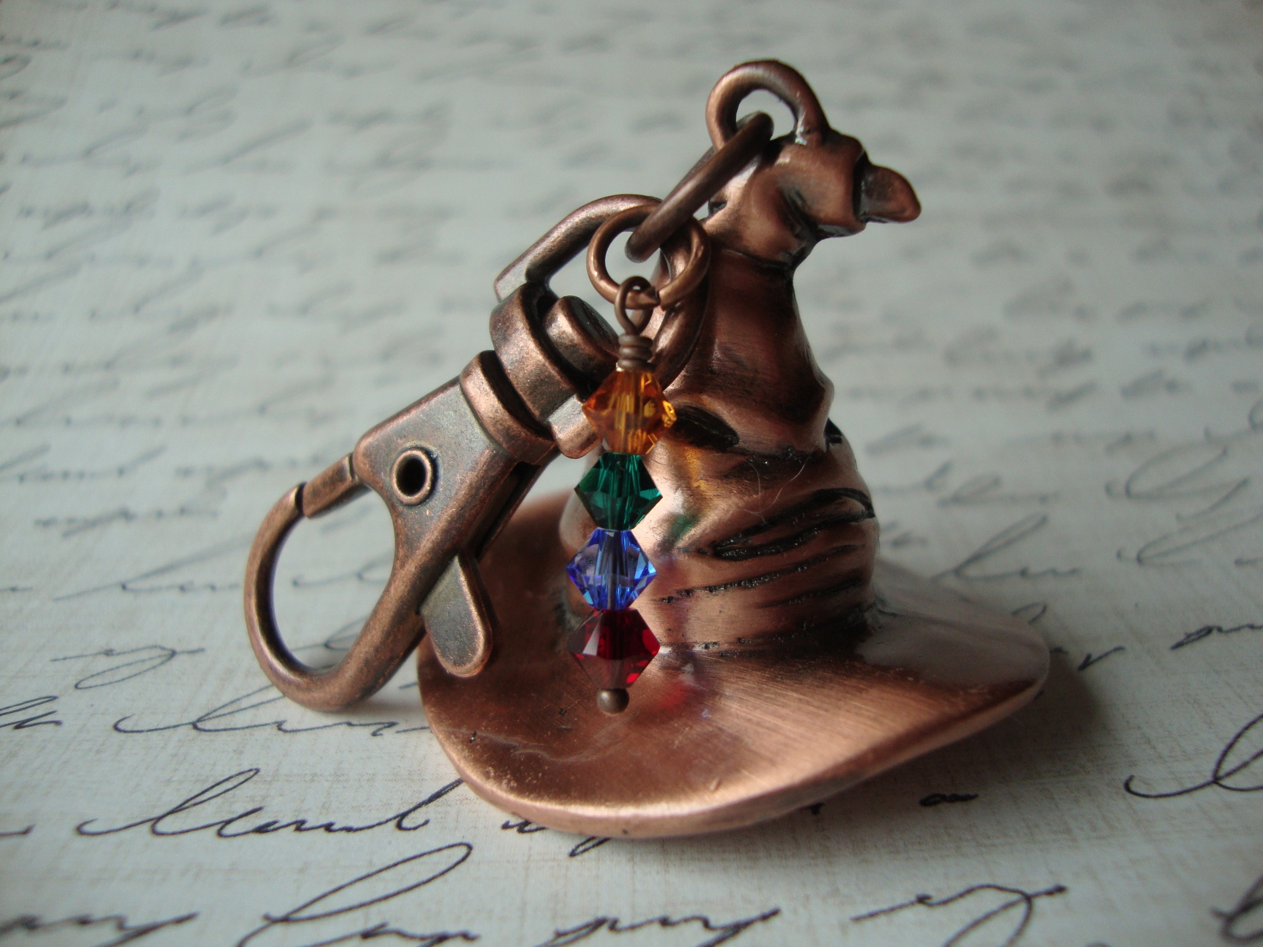 Harry Potter Book Keychain ~ Sorting hat keychain unisex harry potter hogwarts