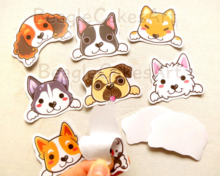 Dog Stickers Animal Sticker Kawaii Sticker Laptop Sticker