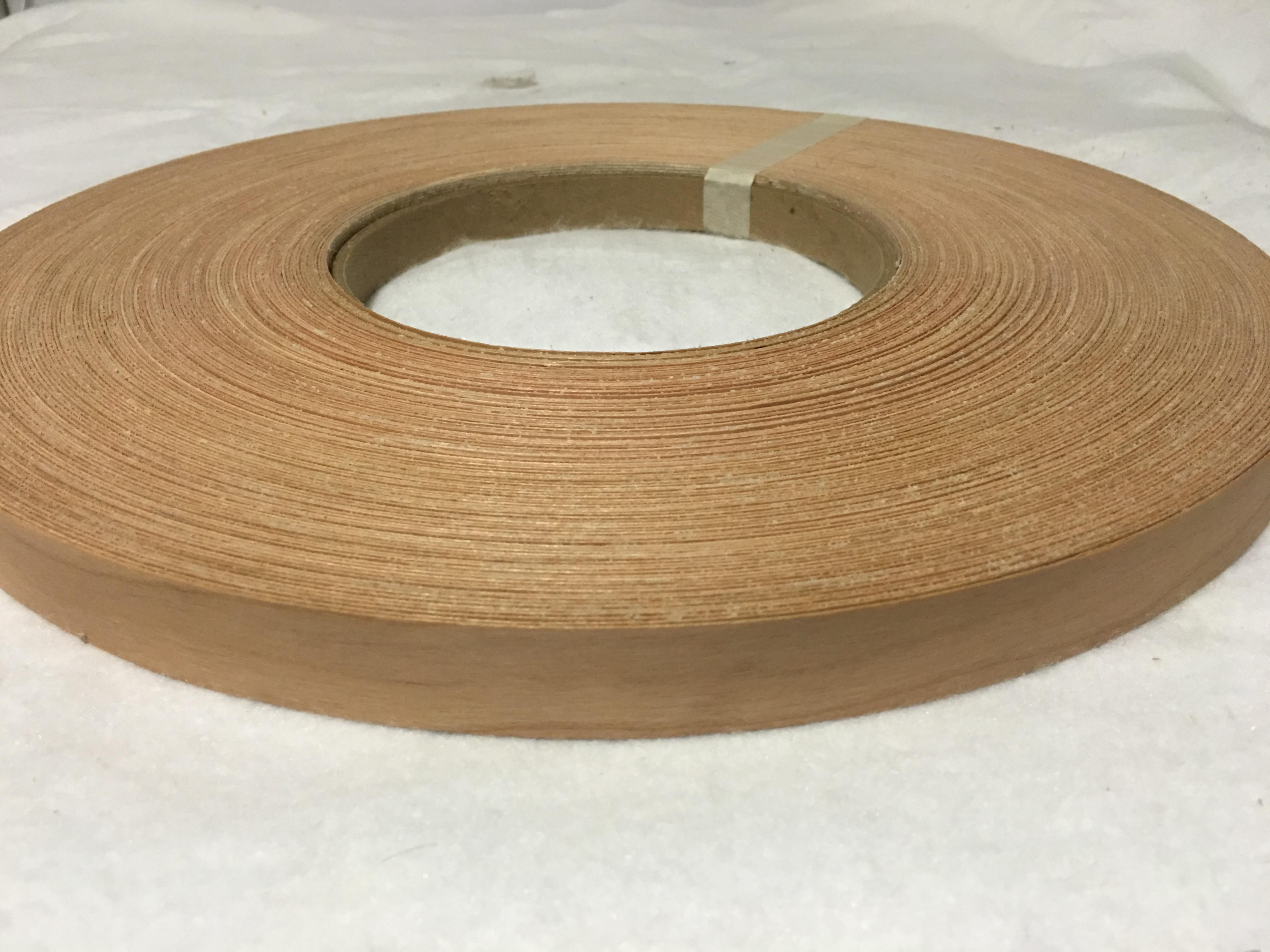 """Teak pre glued 3/""""x50/' Wood veneer edge banding"""