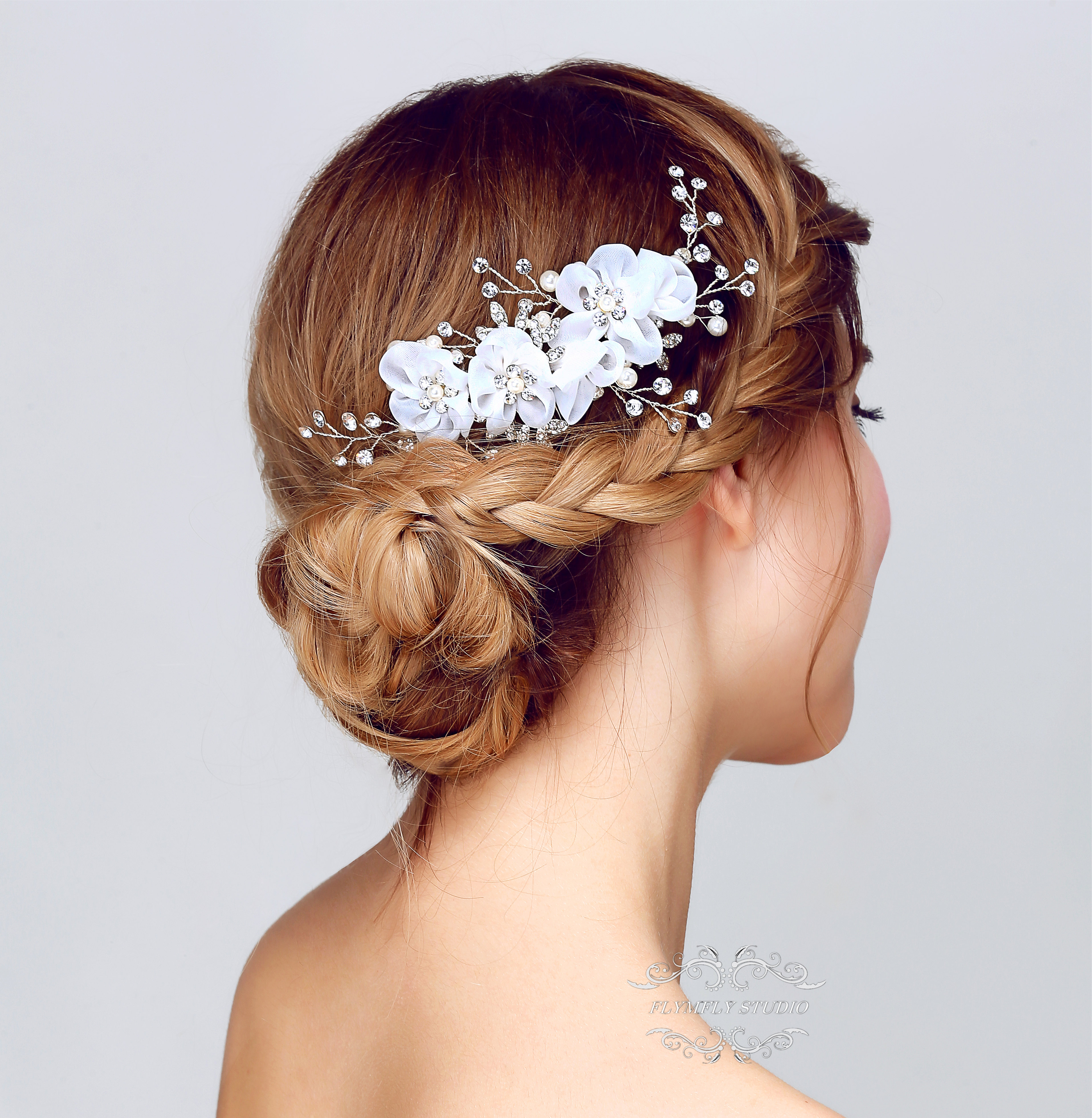 8da1a42d1f Handmade Pearl Wedding Hair Accessories, Bridal Hair Pins, Formal Hair Pins,  Wedding Hair