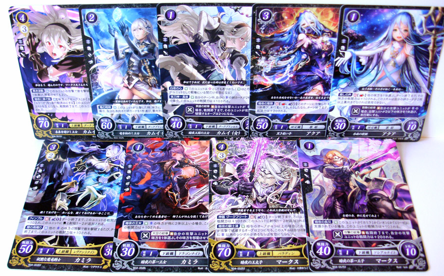 Conquest Fire Emblem Fates Cipher TCG cards (series 2) from shinyv