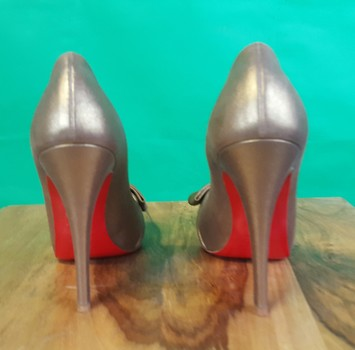 official photos fc0e2 a51c1 CHRISTIAN LOUBOUTIN Formal Bronze Pumps from My Own Luxury