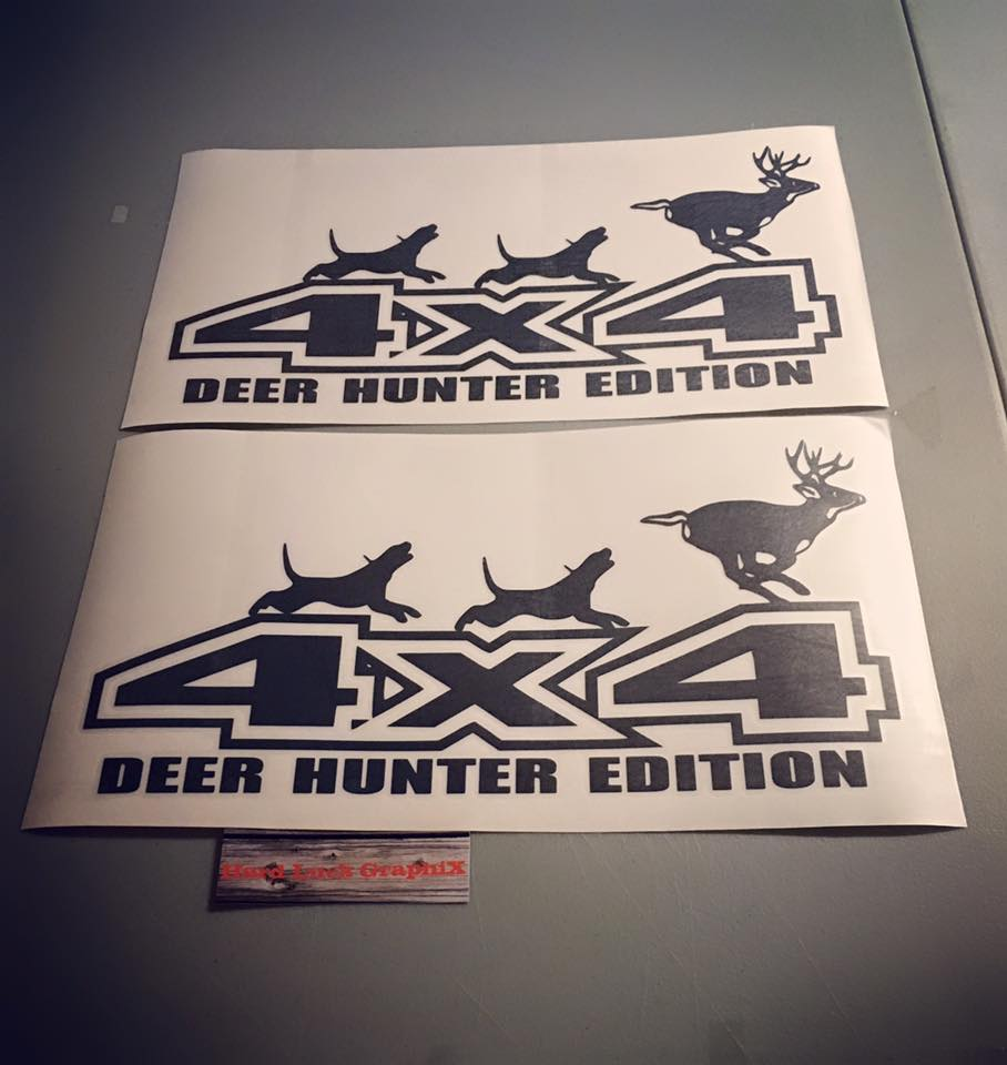 4X4 Deer Decalls