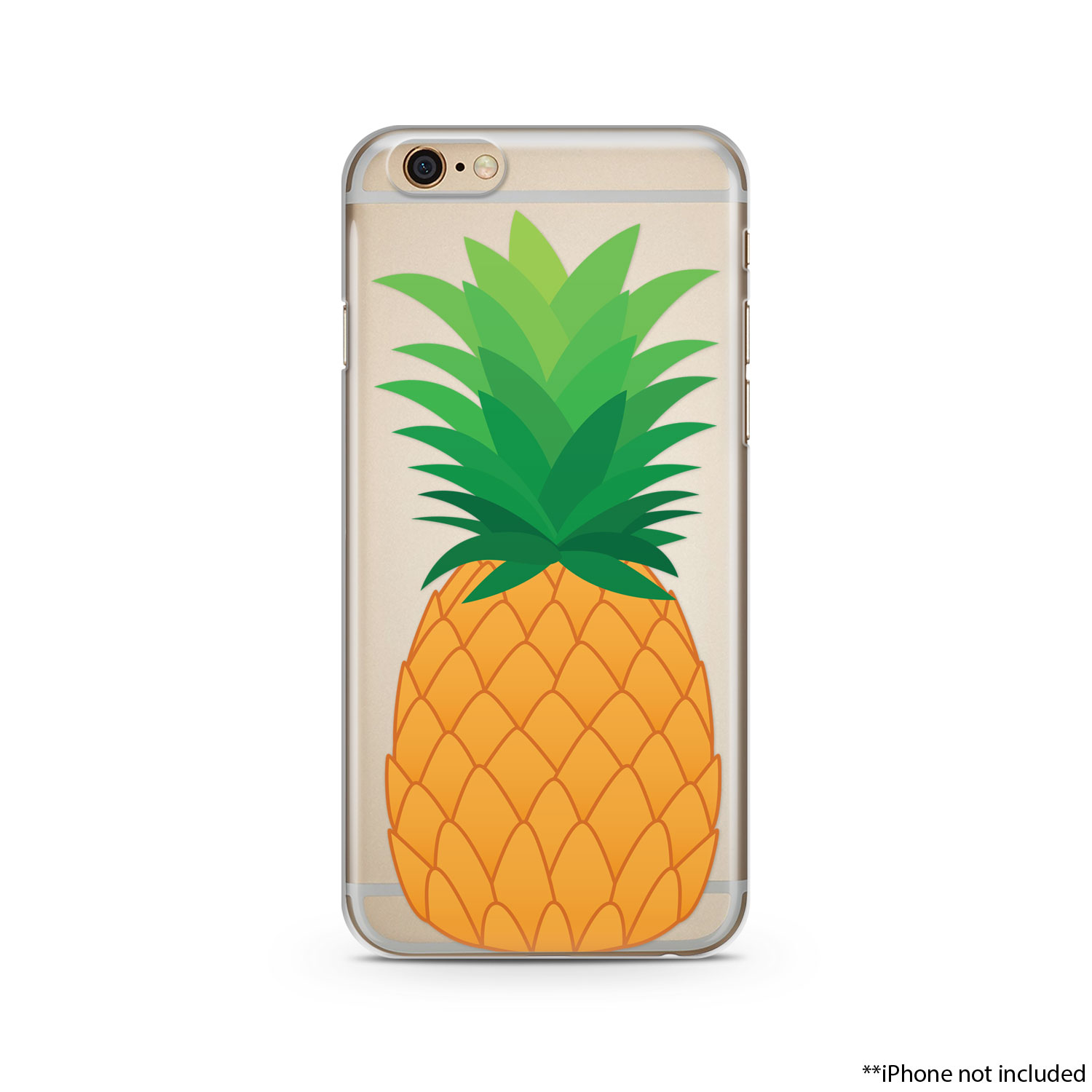 056a7578a9 Big Pineapple iPhone Case, iPhone 6 plus case Transparent iPhone Case, iphone  6s case, iphone 6 case, iPhone 6s plus case on Storenvy