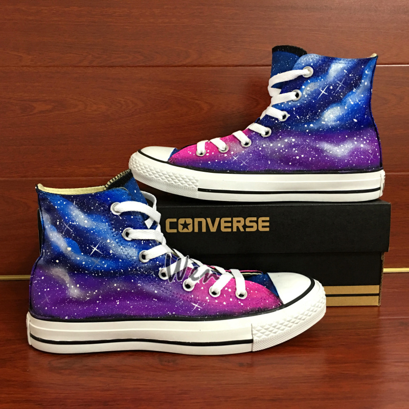 2a17a7d53eb Purple Galaxy Original Design Converse All Star Chuck Taylor Custom ...