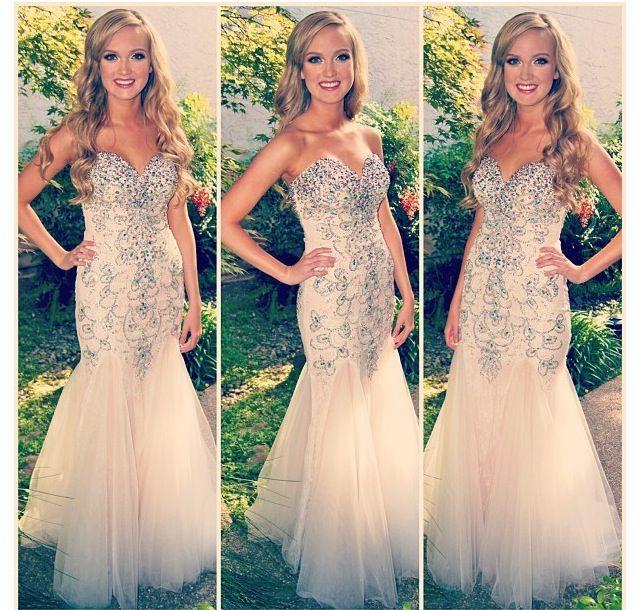Mermaid Sweetheart Real Made Beading Prom Dresseslong Evening