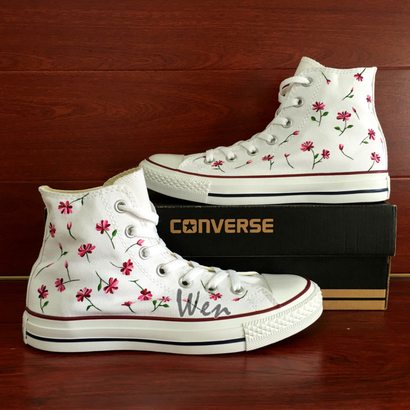 1f9fae64b7e138 Wen Hand Painted Shoes Floral Original Design Custom Converse All ...