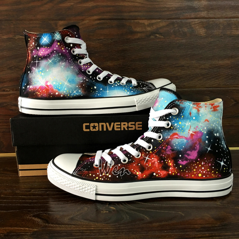 7bcdaf48e0 Fantastic Galaxy Nebula Original Design Converse All Star Custom ...