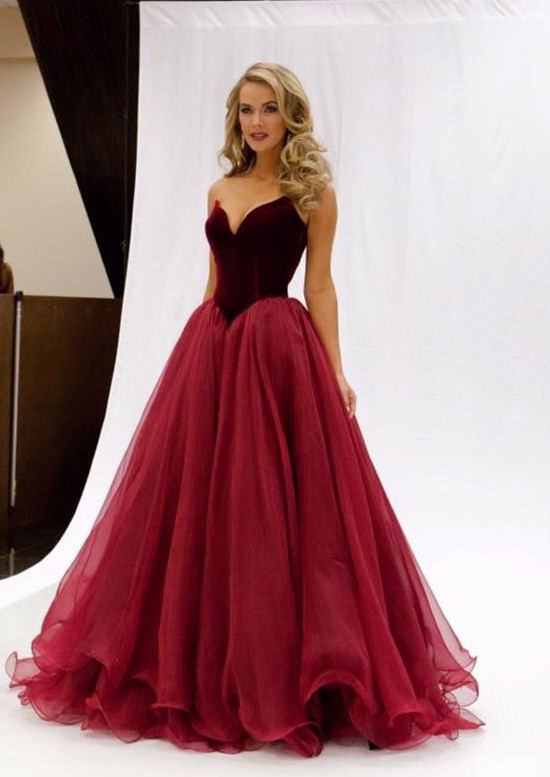 Red Long Ball Gowns