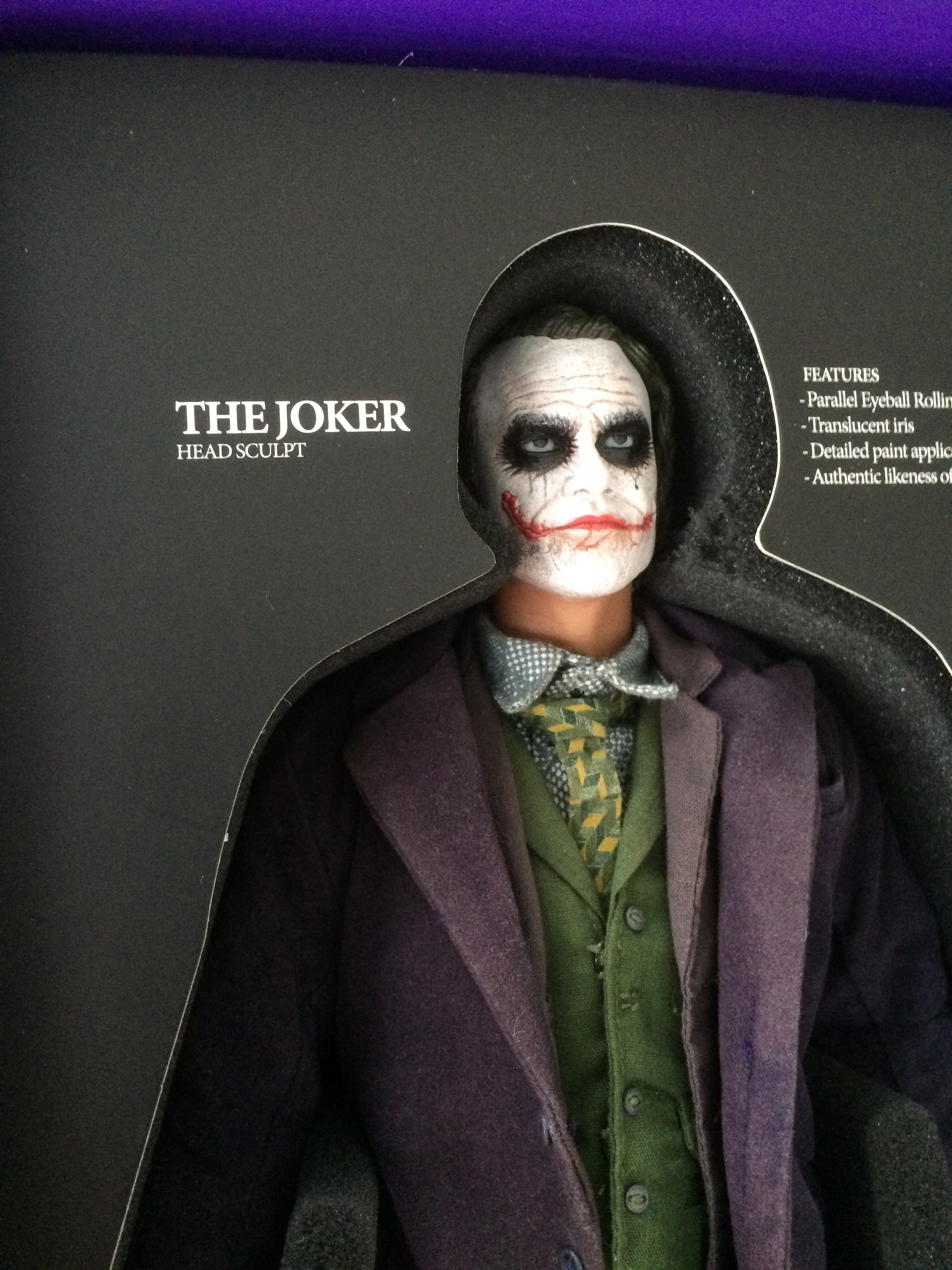 The Joker Dark Knight Hot Toys Dx01 1 6th Scale Collectible Figure