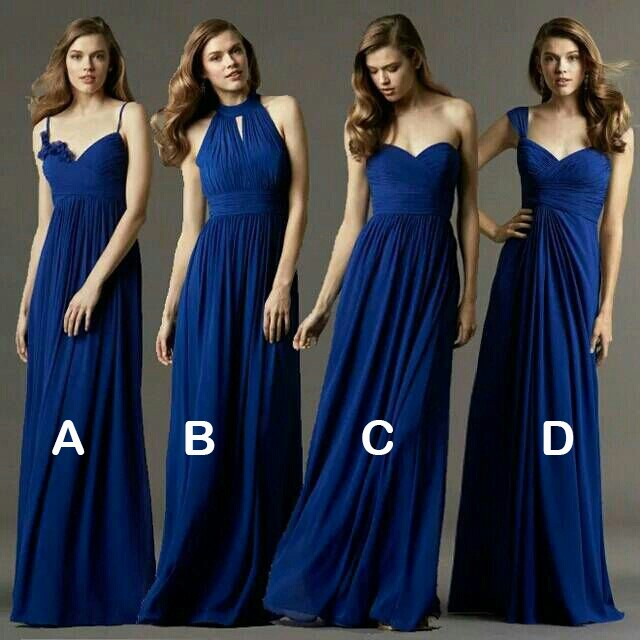 Navy blue bridesmaid dress,mismatched bridesmaid dress,simple ...