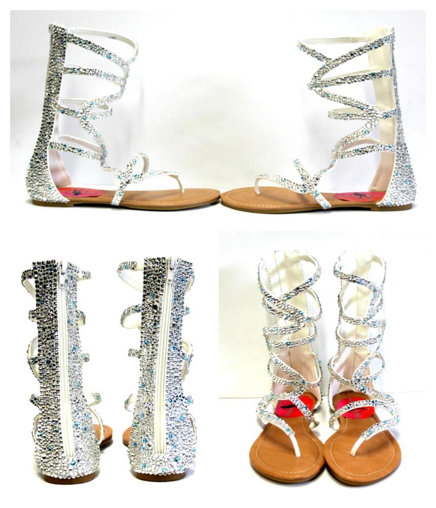 e64c4973540357 Crystal Gladiator Sandals Wedding - Silver Gladiator – Bridal Shoe on  Storenvy