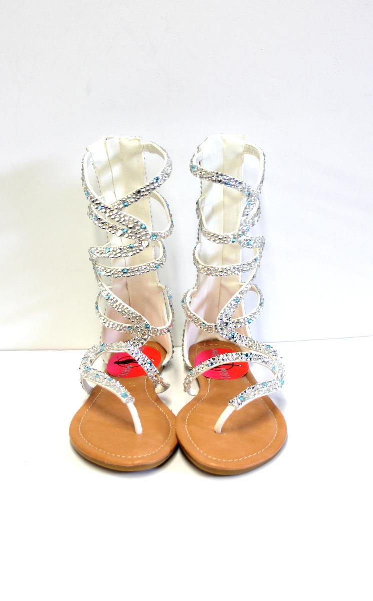 c939e6f8216836 Crystal Gladiator Sandals Wedding - Silver Gladiator – Bridal Shoe ...