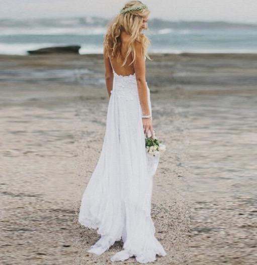 Boho Beach Bride Wedding Dress on Storenvy