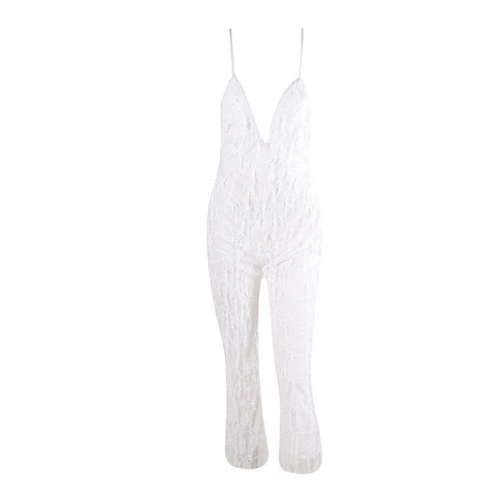 773c394a095 White Sequin Jumpsuit · somethingshelikes · Online Store Powered by ...