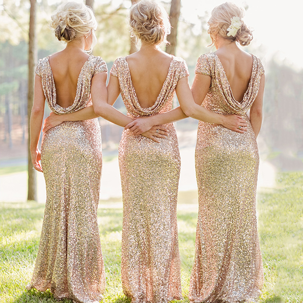 Low-Back Bridesmaid Dresses