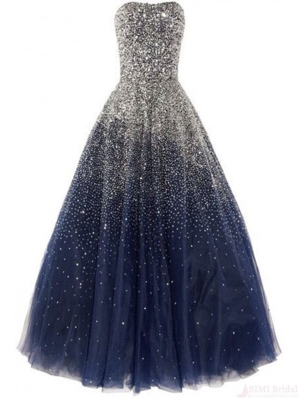 bad41ed6b6 Real Beautiful Navy Blue Prom Dresses