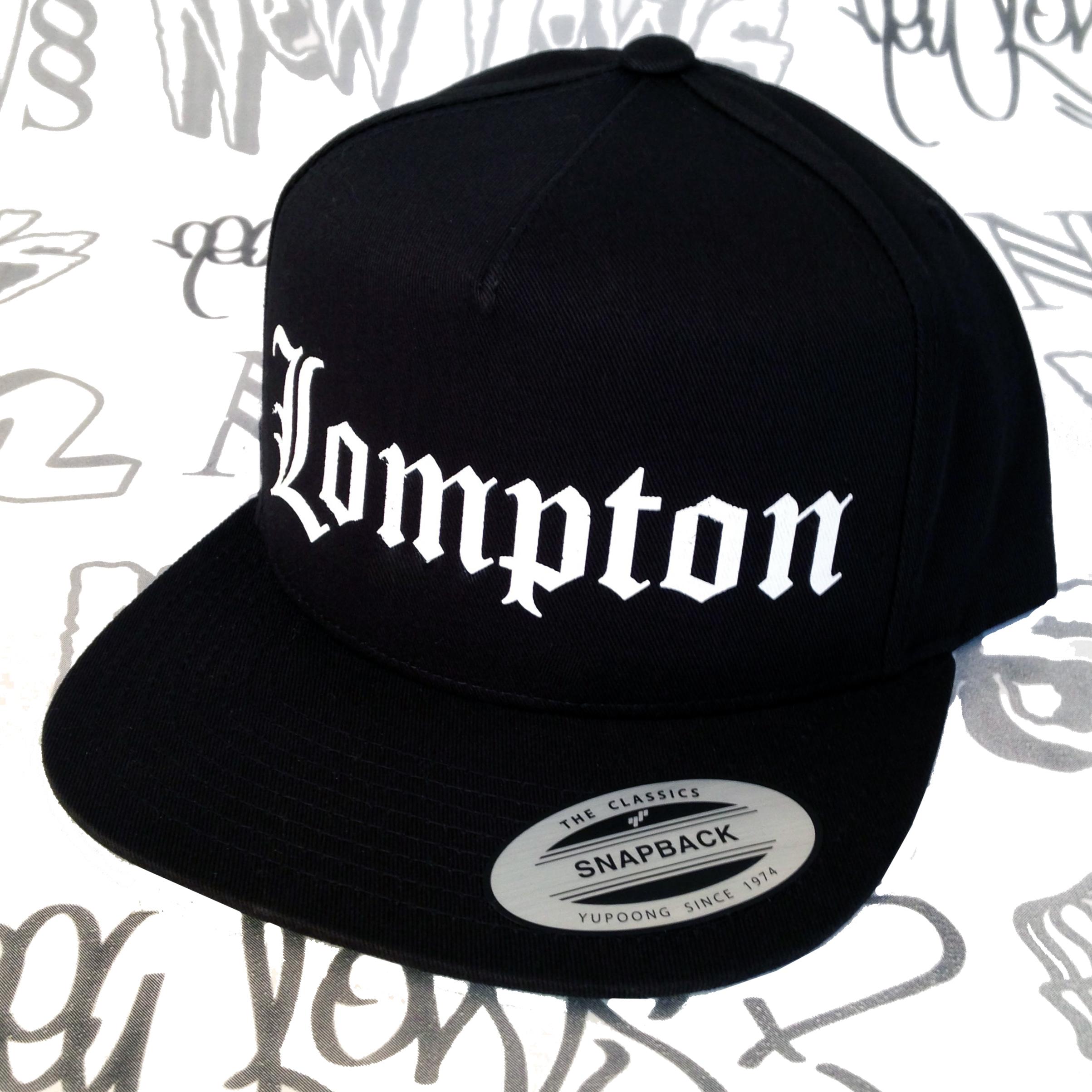 2fce00455 Lompton Script Snapback (black/white)