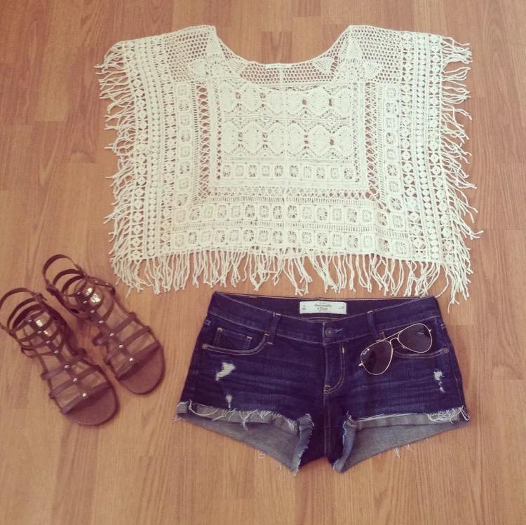 203c49b34 May & July Crochet Fringe Top · Desert Rose & Co. · Online Store ...