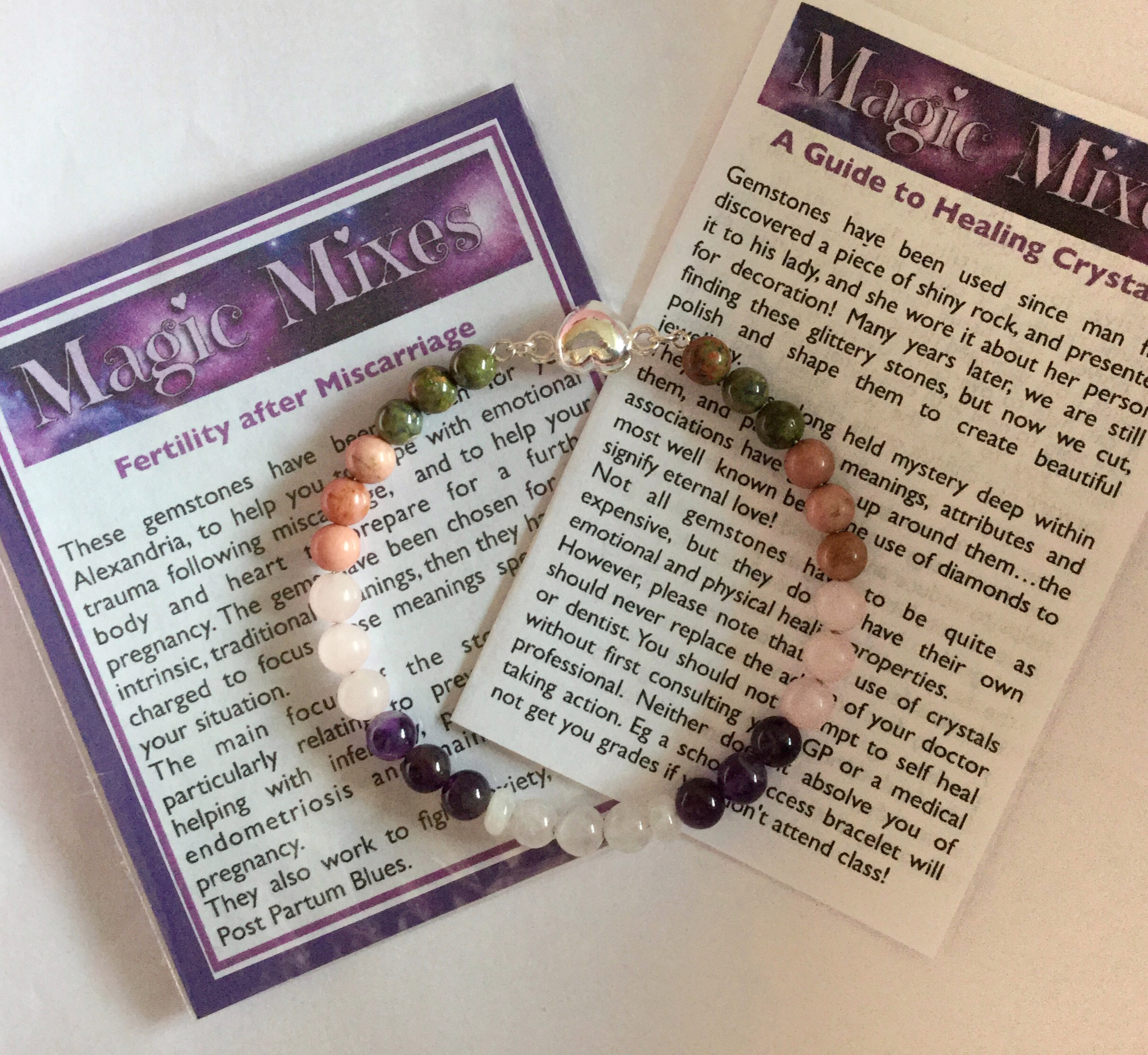 Miscarriage and Pregnancy Loss Memorial Bracelet from Magic Mixes