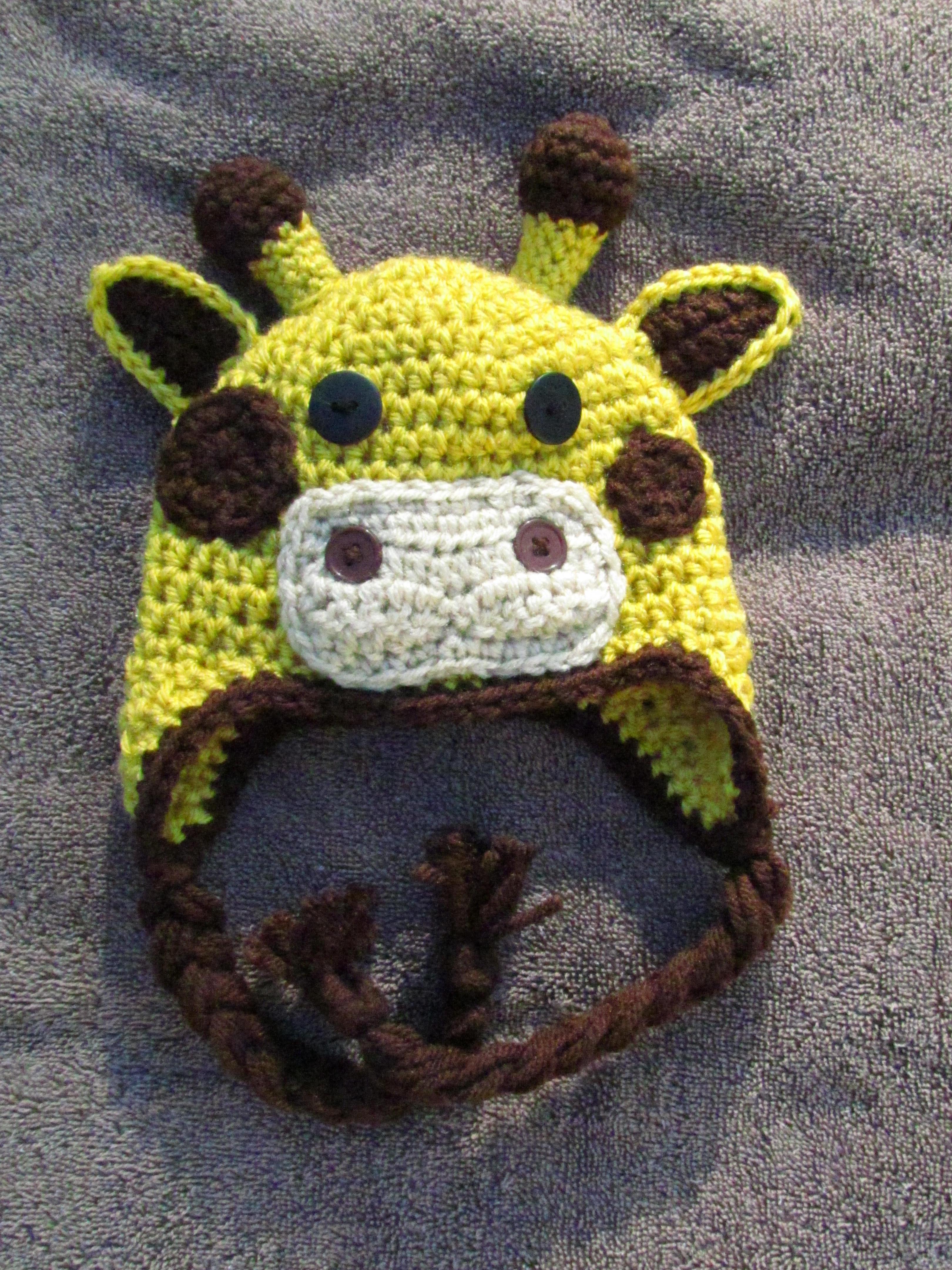 Crochet Giraffe Hat on Storenvy ac62ac3e72d