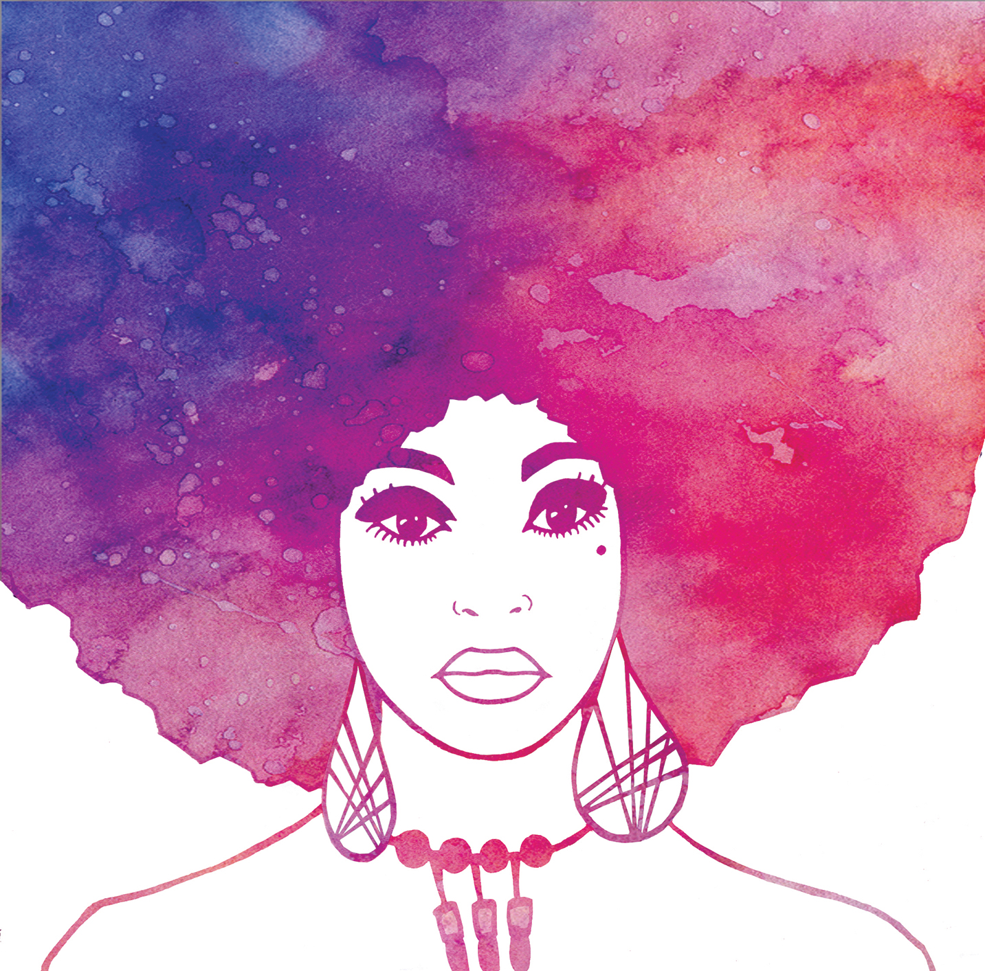 Afro Woman Art Print Limited Edition Watercolour