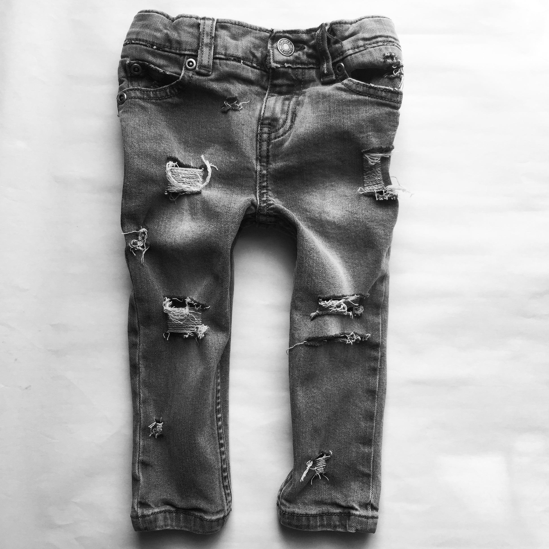gray sky skinnies children s custom distressed denim skinny jeans