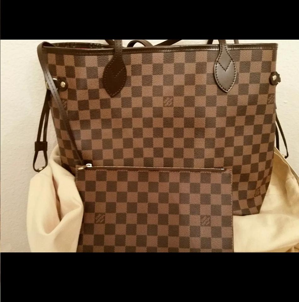 82a13010b50a8 Louis Vuitton Ebene Neverfull MM Tote Bag w pochette on Storenvy