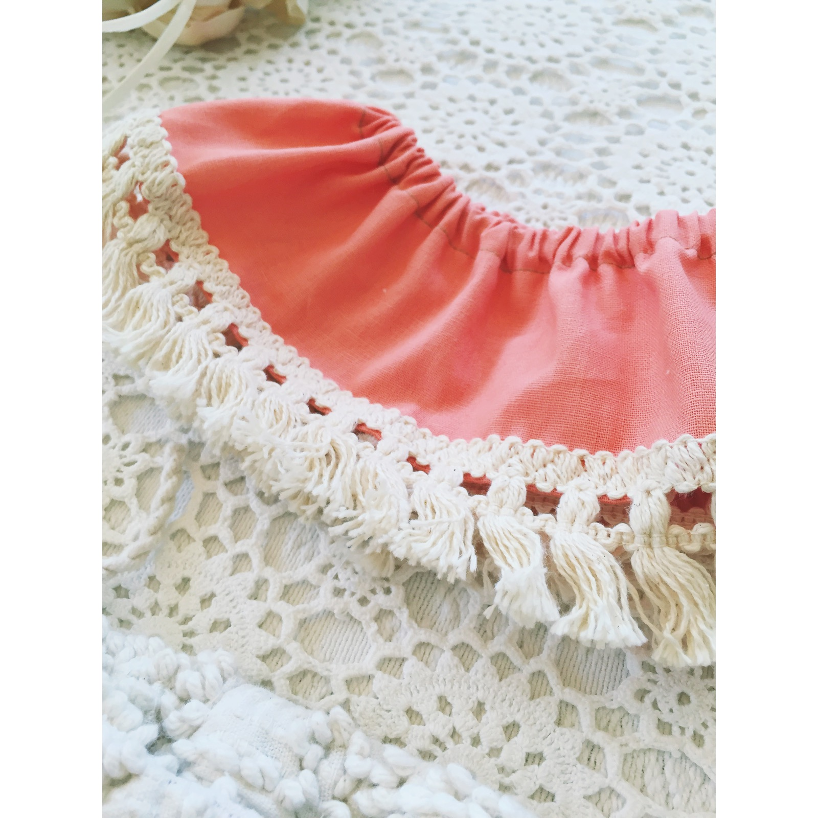 936ce9eaedcd The Peach Linen Fringe Crop Top · The Stag   The Swan · Online Store ...