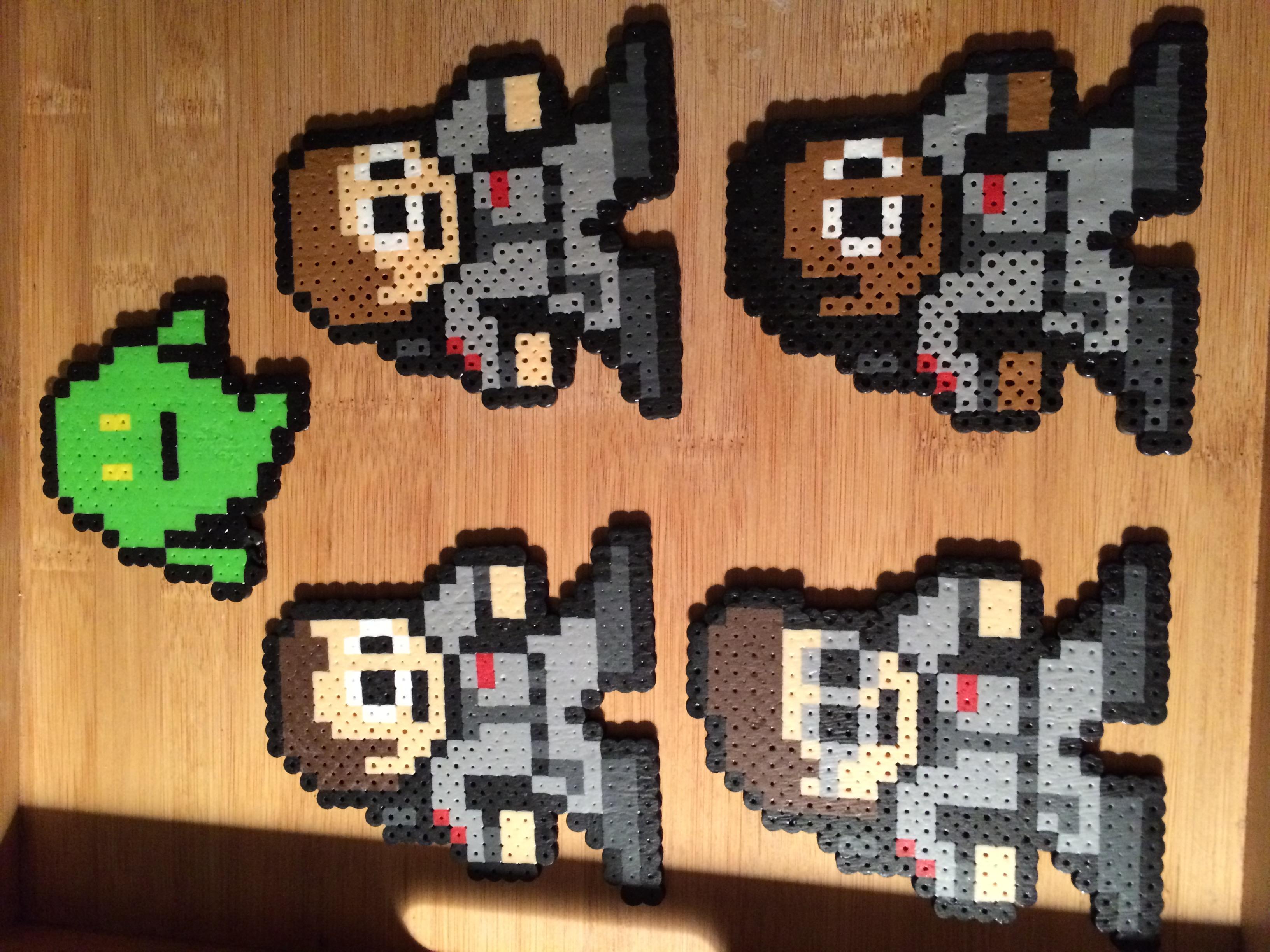 Ghostbusters Perler Bead Art Set Of 5