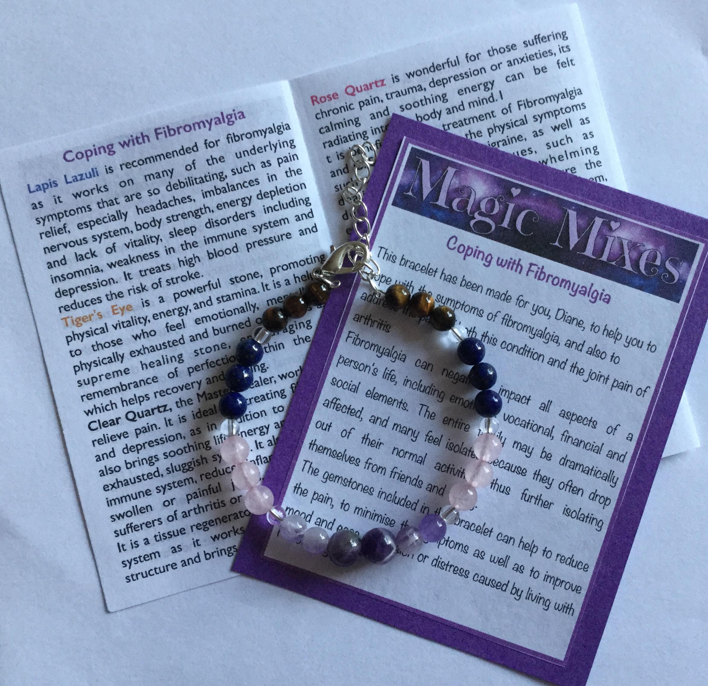Fibromyalgia, CFS/ME and chronic pain healing crystal bracelet from Magic  Mixes