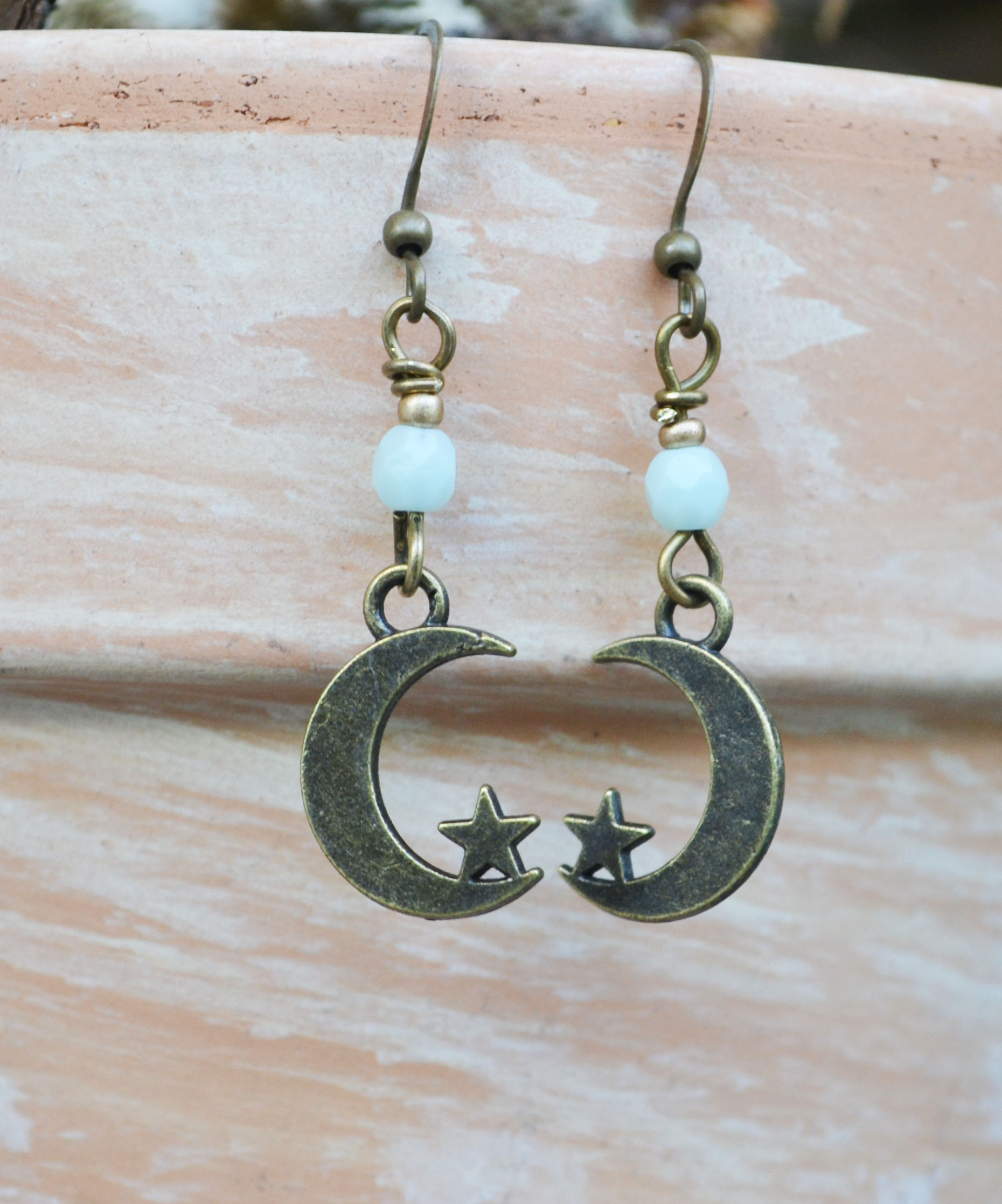 earrings moon lover product and hunter deco web crescent s tempo hare post mini