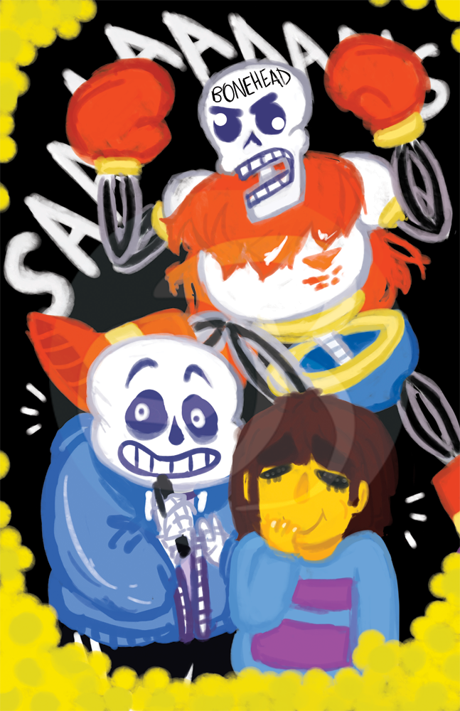 Undertale: Bonehead || PRINT from the new meme
