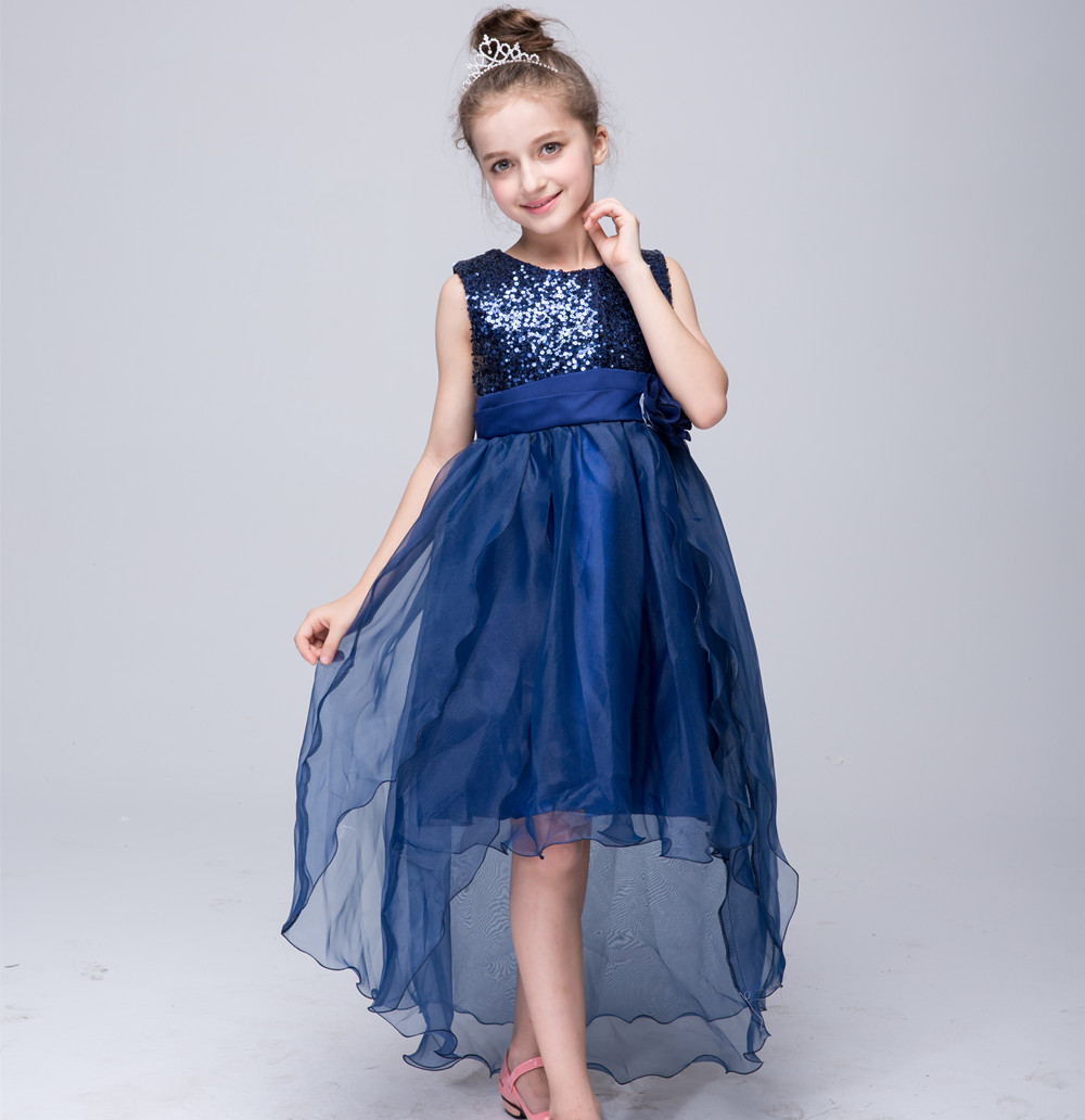 New arrival cute sequin bodice tulle high low flower girl dresses new arrival cute sequin bodice tulle high low flower girl dresses with sashfd03 izmirmasajfo