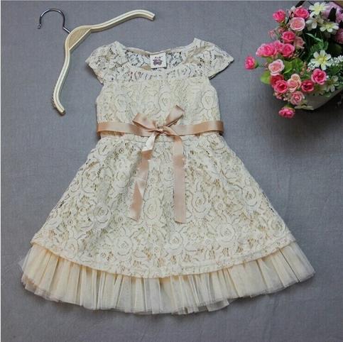 Girl Dress Lace Flower Girl Dress Rustic Flower Girl