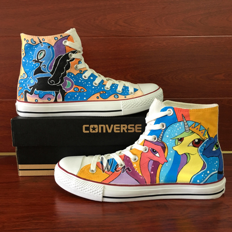 9fc4bc407da5 Wen Custom Design Unicorn Sneakers Women Men Converse All Star My Little  Pony Hand Painted Canvas Shoes on Storenvy