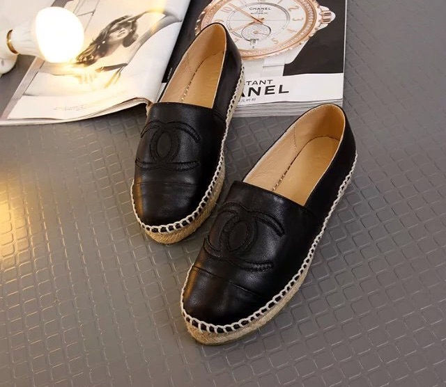 190bc4c9 CHANEL Espadrilles (Black) from Lux Shoe Addict