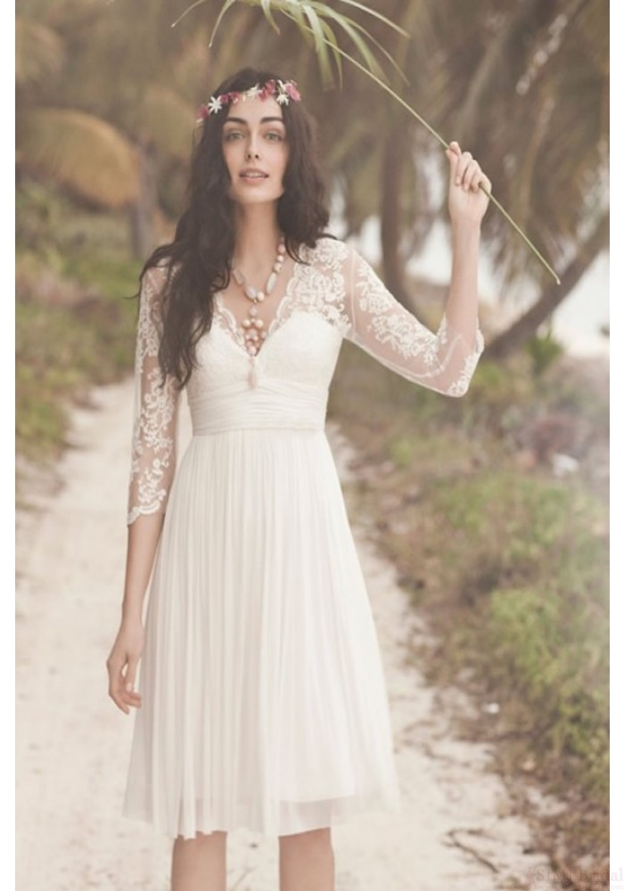 Short Lace Wedding Dress.New Arrival A Line Short Lace Wedding Dresses Real Made