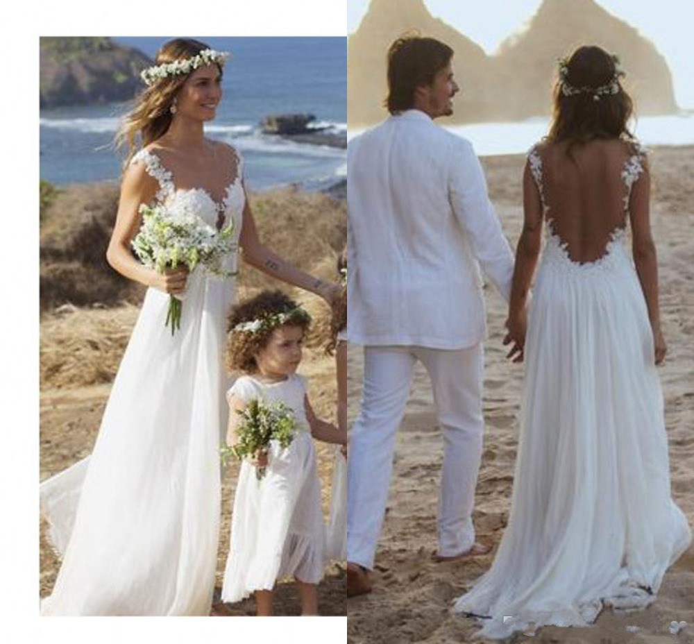 Lace Wedding Gown Open Back: Backless Lace Wedding Dress,Open Back Beach Wedding