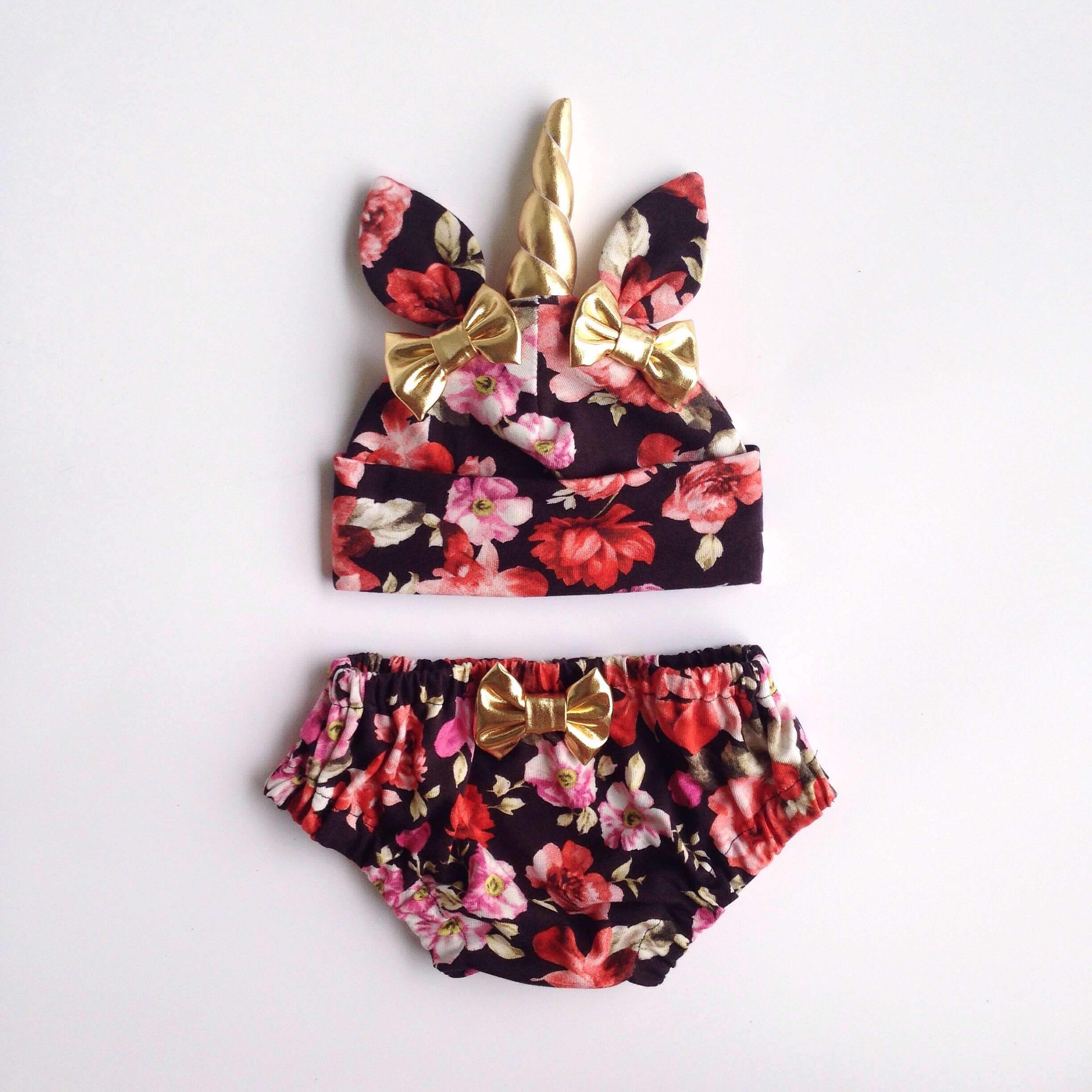 b099723ad55 Unicorn Hat   Bloomers Set- Floral on Storenvy
