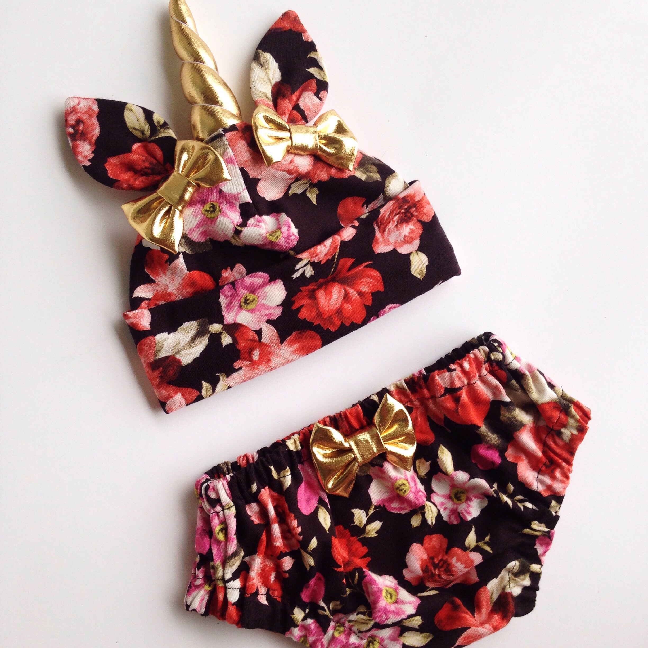 b7e9a2a62ea Unicorn Hat   Bloomers Set- Floral - Thumbnail 1