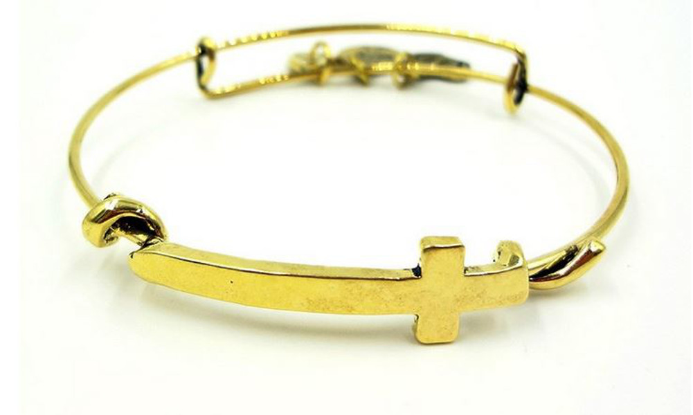 30994d2f4bee8 Alex and Ani Style Cross Wrap Bangle – Gold Color
