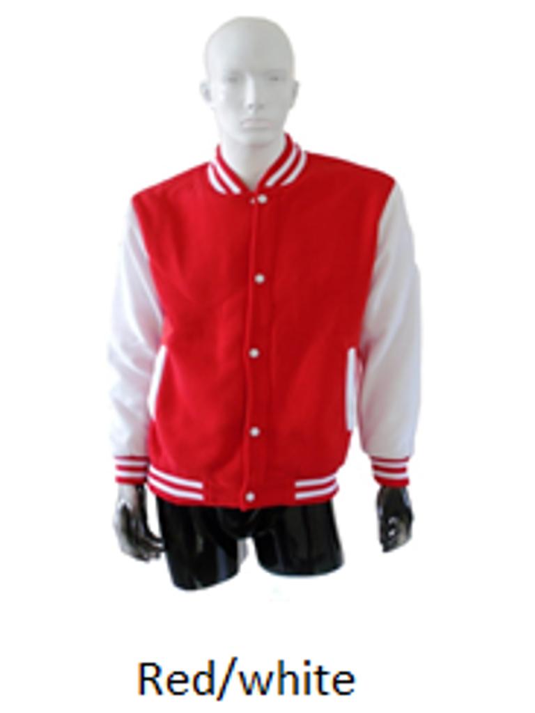 Varsity Jacket Red White Imprintee Pte Ltd Online Store