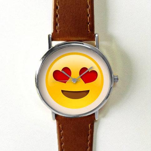 Emoji Watch Watches For Men Women Leather Ladies Vintage