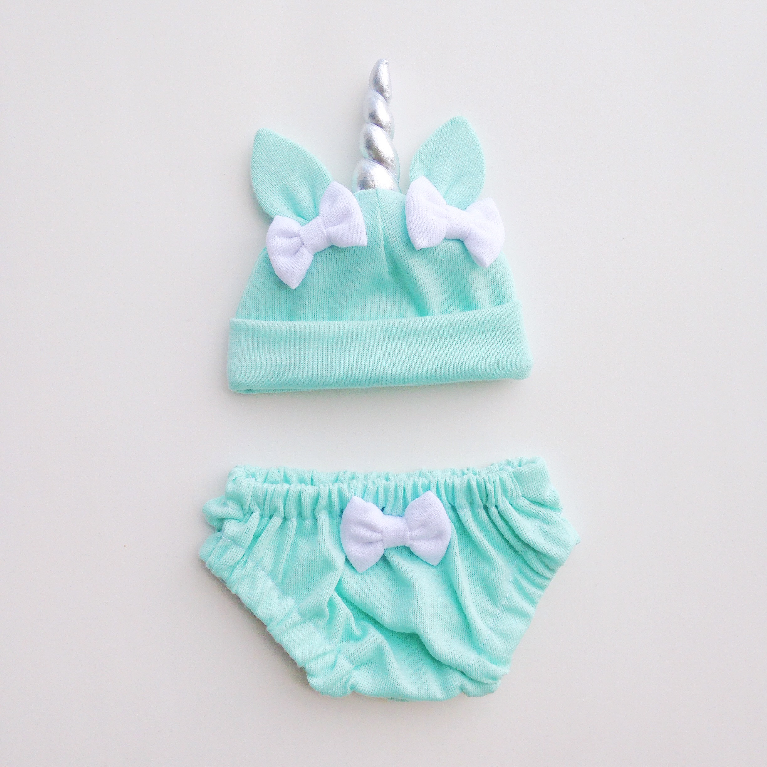 3080fcceffc Unicorn Hat   Bloomers Set - Mint on Storenvy