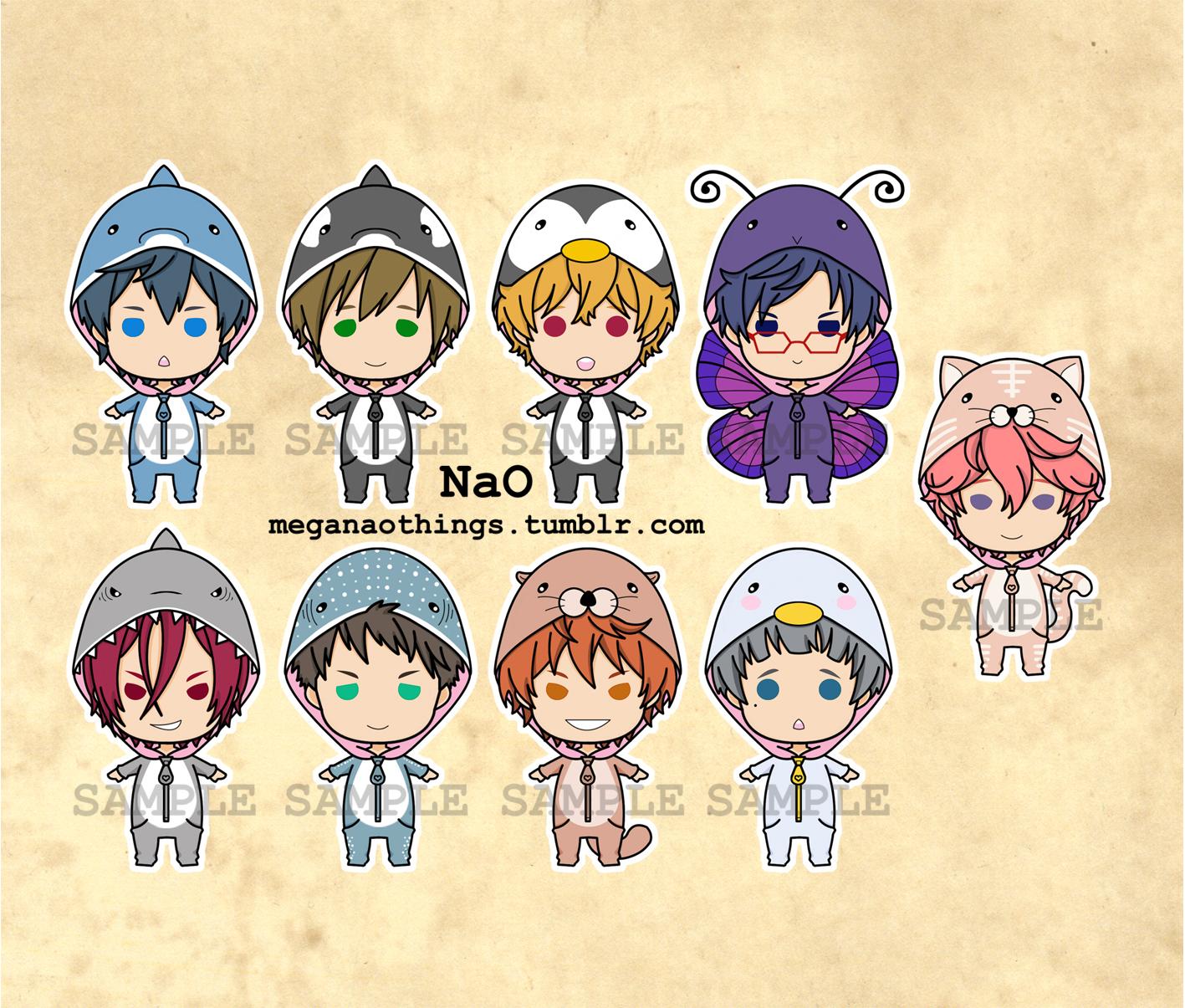 Free! Iwatobi & Samezuka charms