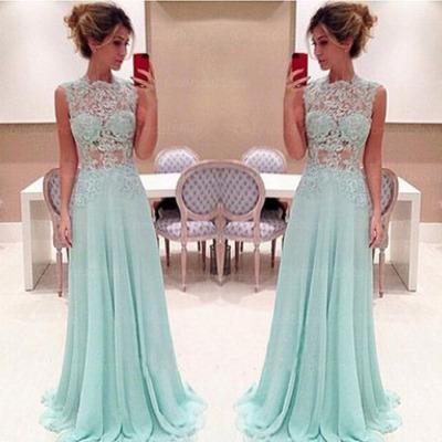 Lace prom dresses, chiffon prom dresses