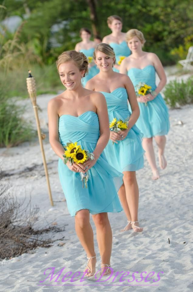 Summer Bridesmaid Dresses by Color