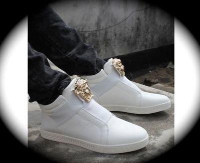 white medusa women high top hip hop casual shoes/boots