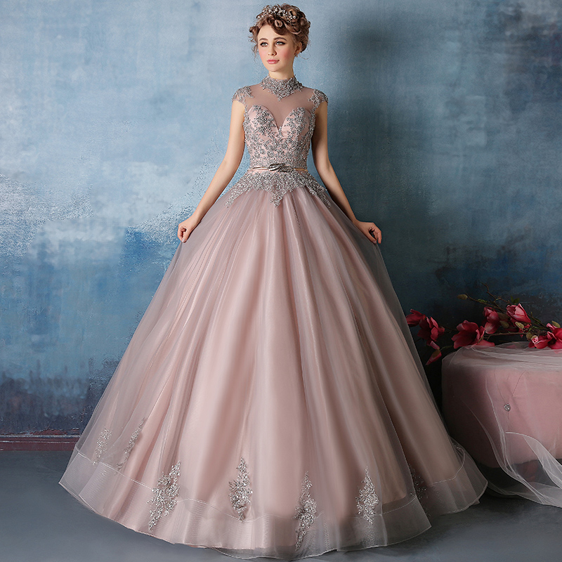 8b9dd6acd28 A38 Pink Organza Long Prom Dress